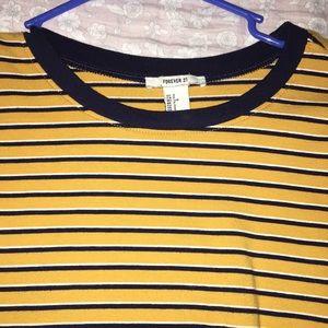 yellow striped, long sleeve shirt
